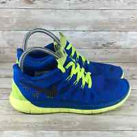 Nike Free 5.0 Youth Size 7 Blue Black Volt Athletic Cross Training Running Shoes