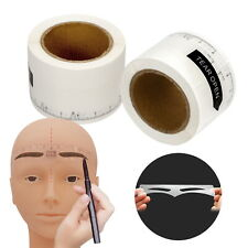 50PCS Disposable Microblading Eyebrow Stencil Guide Measure Ruler Sticker Makeup