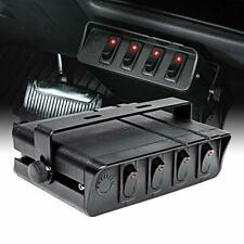 4 Gang 12v Rocker Switch Box 20 Amp Max 12 Awg Wires12 Volt Dc Spst Onoff R