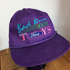 Vintage 80s 90s Purple Ford Monster Trucker Racing Snapback Rope Hat Cap