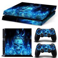 Sony PS4 Design Skin Playstation 4 PS4 Schutzfolie Set Aufkleber Sticker Blaue