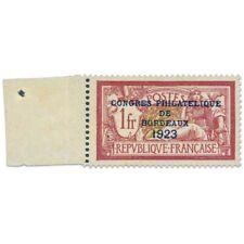 FRANCE N°182 CONGRÈS PHILATÉLIQUE BORDEAUX, TIMBRE NEUF ET SIGNÉ-1923