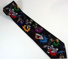Looney Tunes Tie Marvin Taz Daffy Sylvester Tweety Wile Bugs Cartoon Necktie