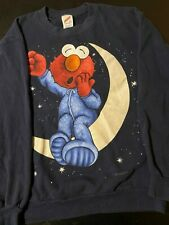 Vintage 90s Elmo Sleep 2-Sided Sweatshirt Sesame Street Cartoon Pajama