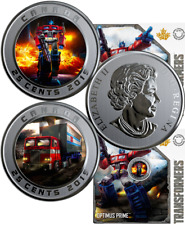 2019 OPTIMUS PRIME 3-D Coin 25-cent 2/5OZ 35mm Coin Canada Transformers AUTOBOTS