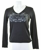 ESPRIT Womens Top Long Sleeve Size 14 Medium Black Cotton  BJ07