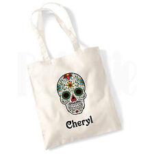 """Cráneo personalizado"""" #CHBLVI """"Bolsa de Lona Regalo para Niñas Damas Mujeres"""