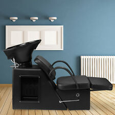 Adjustment Black Backwash Barber Shampoo Chair Bowl Sink Spa Unit Station Beauty