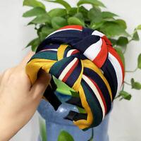 Hairband Headband Turban Striped Hair Band Knot Hair Hoop Woman Hair Accessories