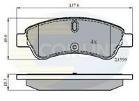 Comline Front Brake Pad Set CBP01033  - BRAND NEW - GENUINE - 5 YEAR WARRANTY