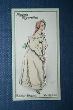 Vanity Fair  Thackeray   Becky Sharp     Original 1913 Vintage Colour Card
