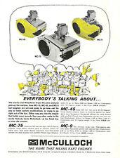 Vintage 1964 McCulloch MC-9, MC-45 & MC-75 Go-Kart Ad