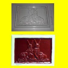 Schokoladenform -Gießform - Relief Oster-Tafel Hasen mit Eier ca.80g