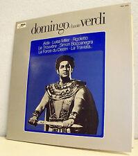 """33T PLACIDO DOMINGO LP 12"""" CHANTE VERDI  AÏDA RIGOLETTO L TRAVIATA Operettes RCA"""