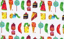 The Very Hungry Caterpillar - FOOD cotton fabric. 55 cm x 50 cm larger available