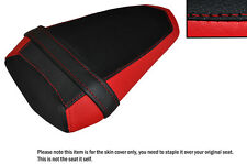 BLACK & RED CUSTOM FITS YAMAHA YZF R1 R1M 2015 REAR LEATHER SEAT COVER