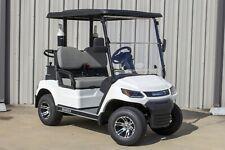 """New listing New White / Gray 48V Electric Golf Cart 2 Passenger 2"""" Lift Golf Pkg Cooler"""