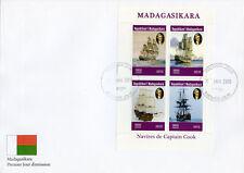 Madagascar 2019 FDC Captain James Cook Voyages 4v M/S Cover Boats Ships Stamps