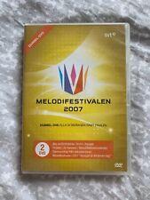 Melodifestivalen 2007 Genuine Double DVD (VHTF) Eurovision Song Contest Sweden
