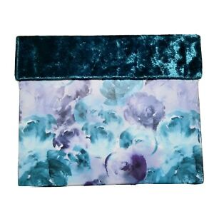Decorative Floral Storage Box With Felted Lid Keepsake Organizer Container