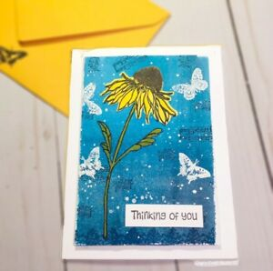 1pc SUNFLOWER CARD~ Thinking of you 🖌