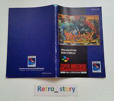 Super Nintendo SNES Equinox Notice / Instruction Manual