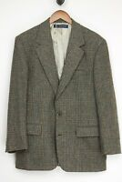 Brooks Brothers Mens Tweed Sport Coat 40R Green Gray Glen Plaid Wool Jacket USA