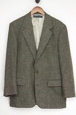 Brooks Brothers Hombre Tweed Abrigo Deportivo 40R Verde Gris Cuadrados Glen