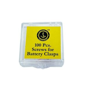 100 Tiny Screws For Battery Clasps Clamps Covers Quartz Watch Batteries Repair