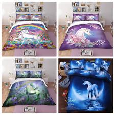 3D Unicorn Quilt Doona Duvet Cover Animals Bedding Set All Sizes Pillowcases New