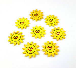 Sunflowers Sticker Wood Plugs Table Decorations Shaker Parts 8 Piece