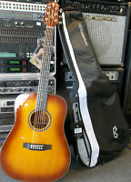 Crafter Lite DSP VTG acoustic guitar & gigbag brand new. Professionally setup.