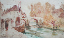 ALBERT H. FULLWOOD (1888-1961) RARE watercolour World War I Anzac Troops Belgium