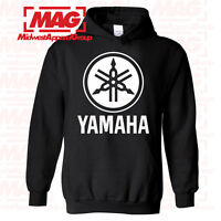 YAMAHA HOODIE BLACK Racing Motocross Hooded Sweatshirt ATV Moto Logo YZF OEM R1