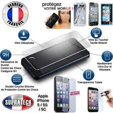Protection d'Ecran en Verre Trempé Contre les Chocs pour Apple iPhone 5 5S 5C