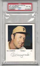 Bill Mazeroski 1971 Pittsburgh Pirates Autograph Cards PSA 6 (EX-MT)