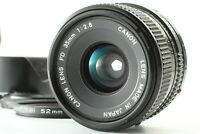 [N.MINT] Canon NEW FD 35mm f/2.8 NFD MF WIDE ANGLE LENS w/Hood, Cap FROM JAPAN