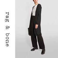 🖤NWT $395 Rag & Bone Black Rower Metallic Merino Wool cardigan was19hs041kt41 S