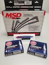 MSD 32813 Black Wires & 8 NGK TR551X Iridium Spark Plug LS Corvette GTO Firebird