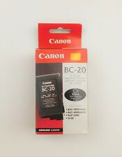 GENUINE CANON BC 20 BLACK ink cartridge BUBBLEJET 2000 4000 5500 series