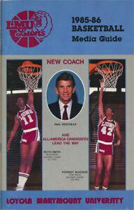 Loyola LMU Lions Basketball _RARE_ 1985/86 Media Guide/Schedule vtg NCAA College