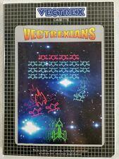 Vectrexians (CIB) Cart, Overlay, Manual, Box. Vectrex Tutstronix NEW 👀