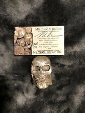 "8 Troy Oz. MK BarZ .999 LTD Limited Silver ""Speak No Evil"" Skull 022/100"
