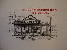 """Elliot's """"In Your Neighborhood Since 1947"""" Hardware Store White T Shirt XL"""