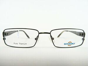 Titanbrille Herrenfassung grün Brillenfassung nickelfrei für Allergiker Gr. S