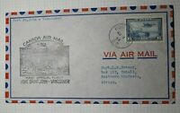 Canada Airmail Cover FFC 1st Flight Fort St John Vancouver 1938 Rhodesin C6