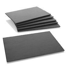 Schieferplatten, 6er-Set - Servierplatten, Platzset, Tischset, Wurst, Käse - NEU