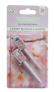 Wickford & Co Car Vent Stick Air Fresheners Cherry Blossom & Jasmine 2 Pack
