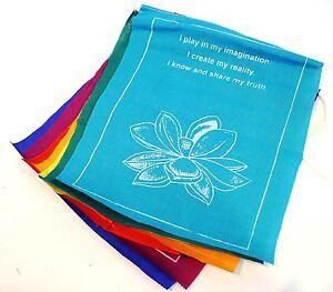 2 Rolls Healing Lotus, Meditation,7 Positive Affirmations/7 Flags 24 x 20 cm