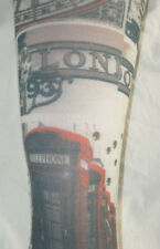 London Icon Lycra 70 den Footless Tights. Big Ben Camden Tourist Landmark